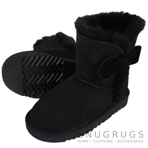Zara - Kids Sheepskin Boots - Black