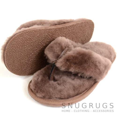 Tiggy - Luxury Sheepskin Flip Flop Slipper - Mink