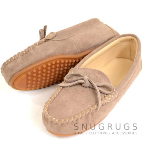 Suede Driving / Outdoor Moccasins - Mink