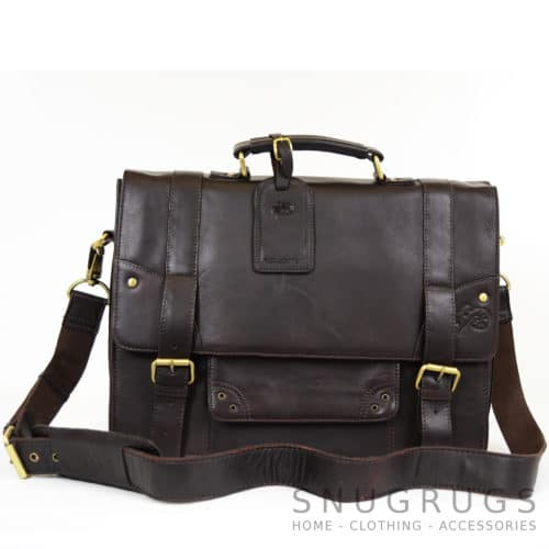 Leather Briefcase - Brown