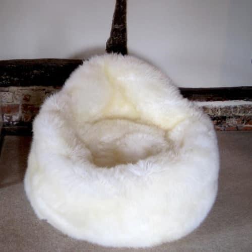 Sheepskin Bean Bag Seat - Ivory
