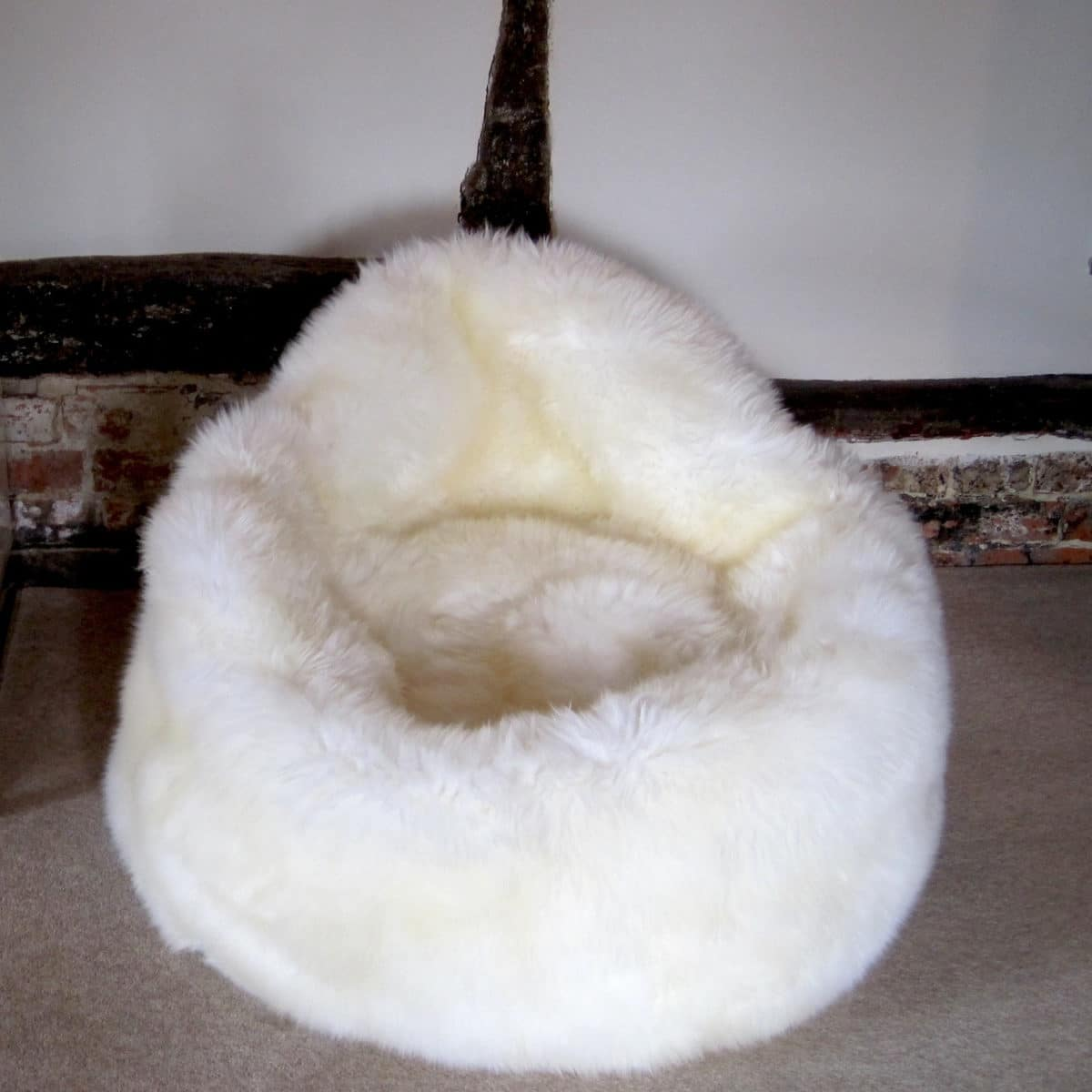 Sheepskin Bean Bag Seat - Ivory
