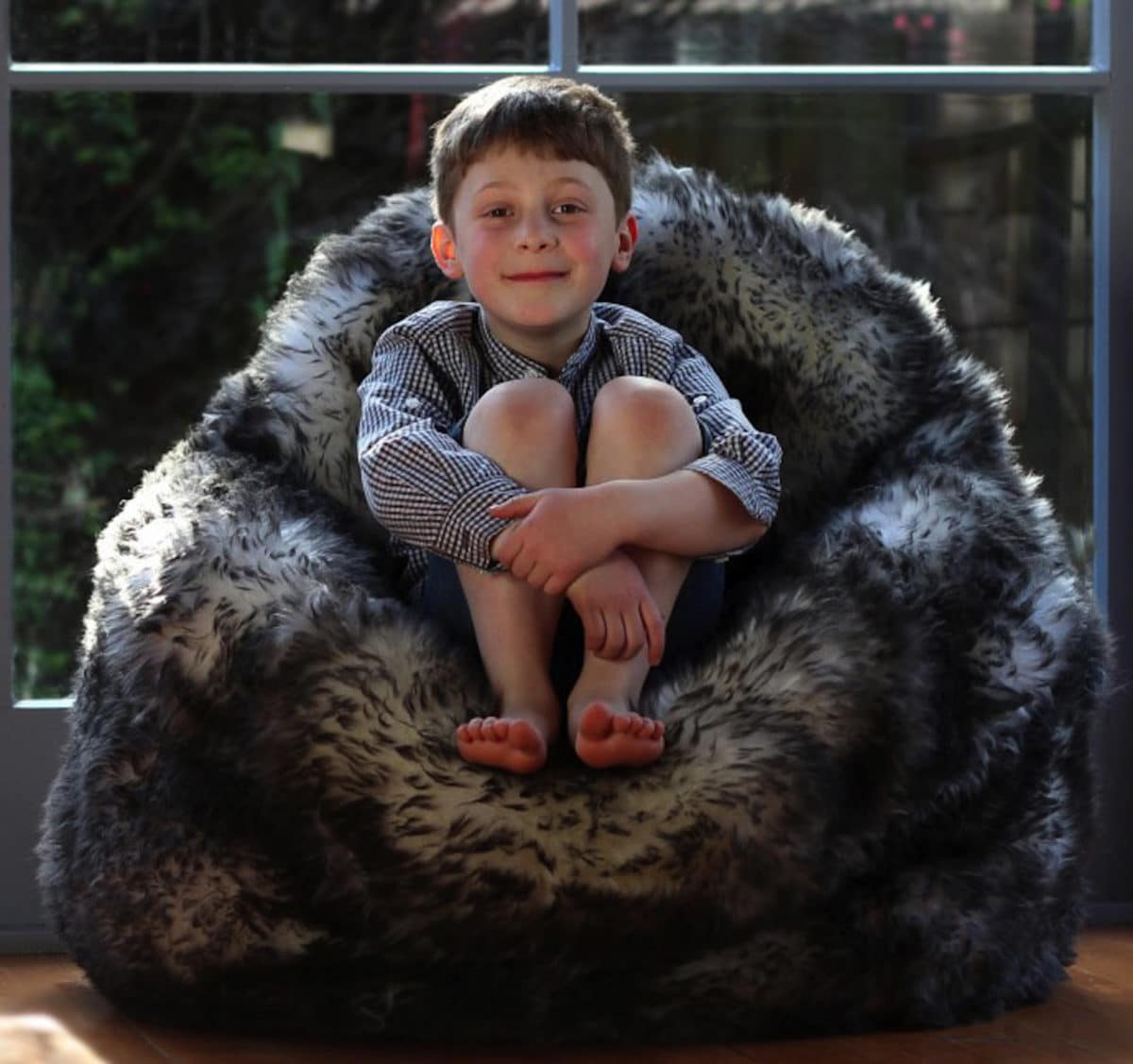 Sheepskin Bean Bag Seat - Twilight
