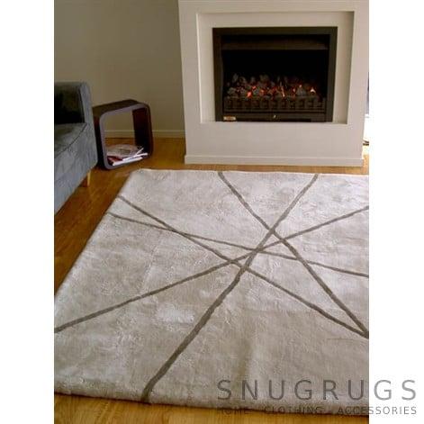 Bowron Lines Shearling Rug - Grey