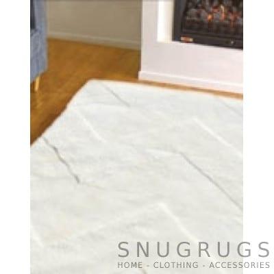 Bowron Vintage Shearling Rug - White
