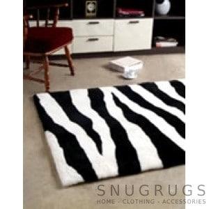 Bowron Zebra Shearling Rug - Black & White