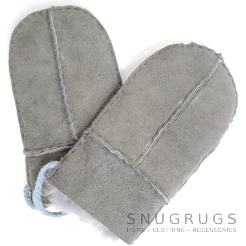 Sheepskin Baby Mittens - Charcoal