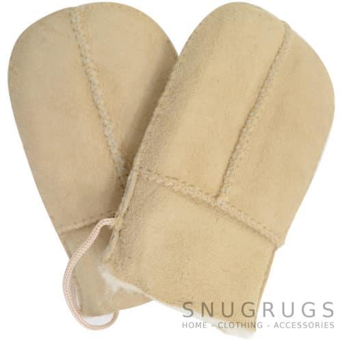 Sheepskin Baby Mittens - Sand