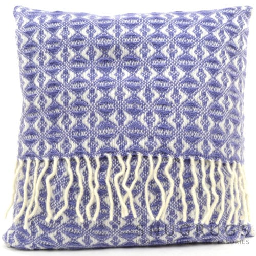 Cobweave Wool Cushion - Amethyst Blue