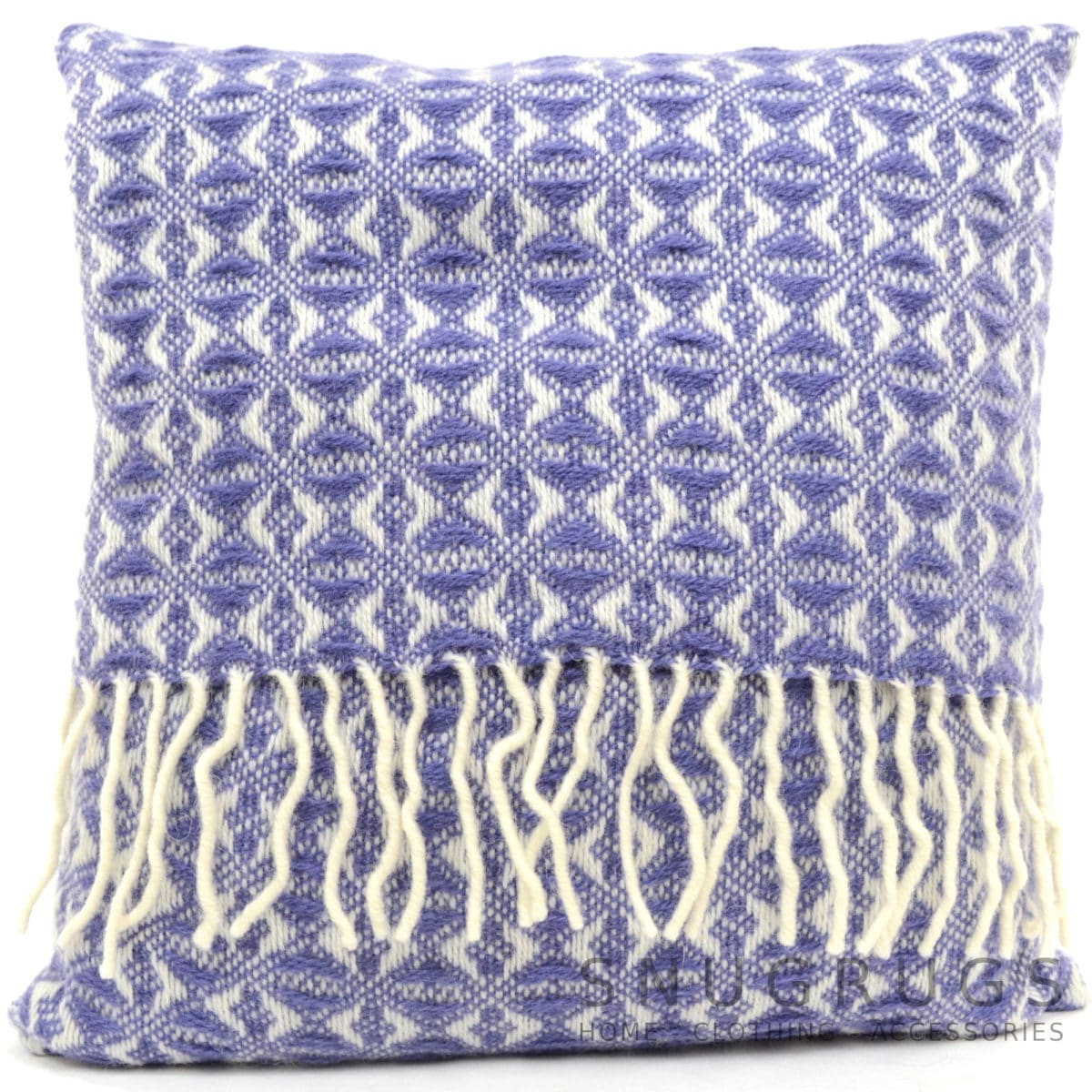 Cobweave Wool Cushion - Amethyst Blue