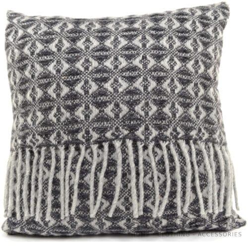 Cobweave Wool Cushion - Charcoal Grey