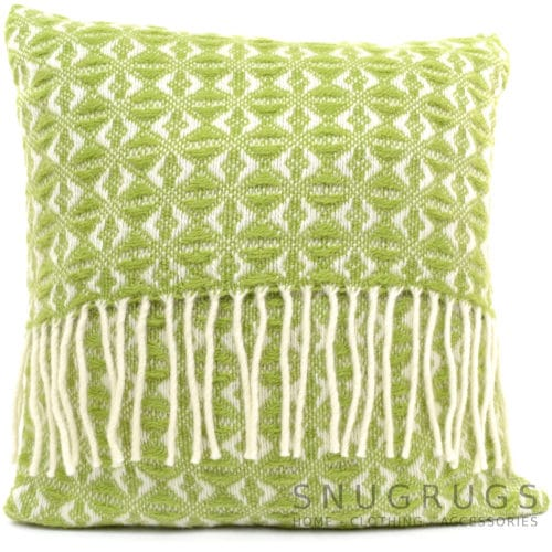 Cobweave Wool Cushion - Fern Green