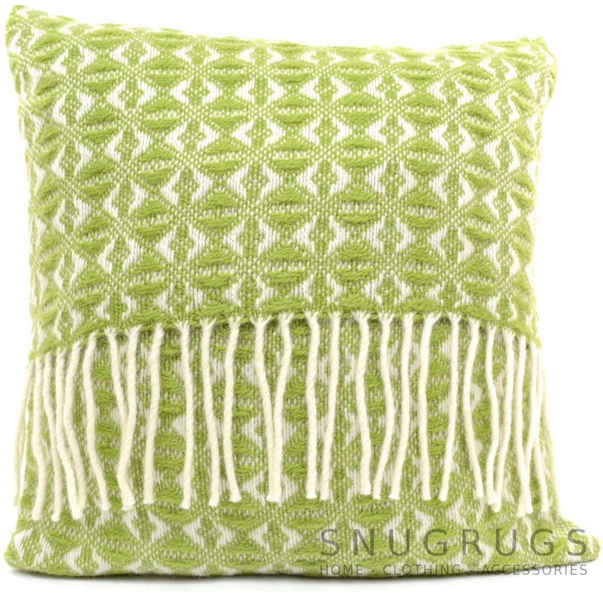 Cobweave Wool Cushion - Fern Green
