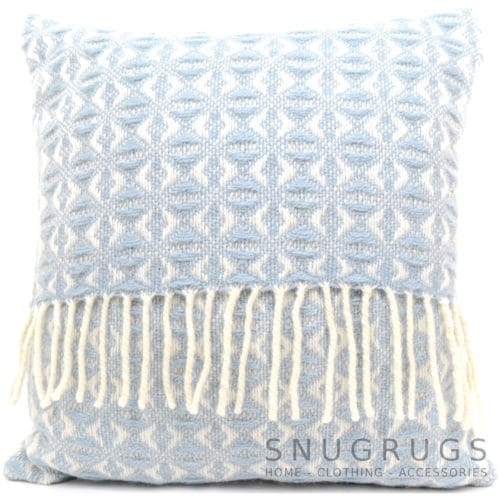 Cobweave Wool Cushion - Sky Blue