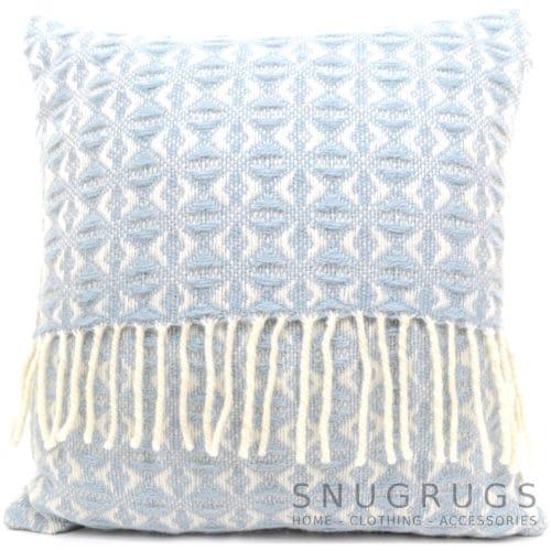 Cobweave Wool Cushion - Sky Blue