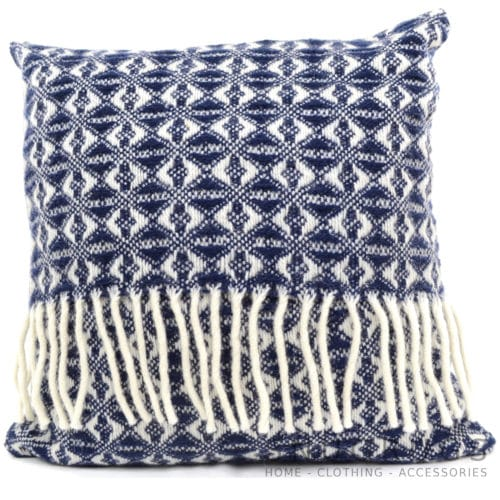 Cobweave Wool Cushion - Navy Blue