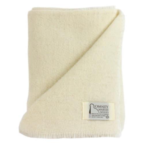 Merino Wool Baby Blanket - Romney Marsh