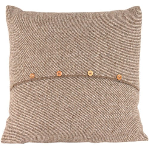 Romney Marsh Wool Cushion - Fern - 4 sizes