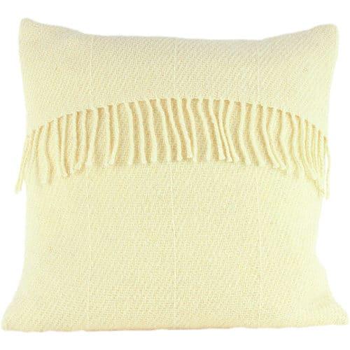 Romney Marsh Wool Cushion - White Clover - 4 sizes