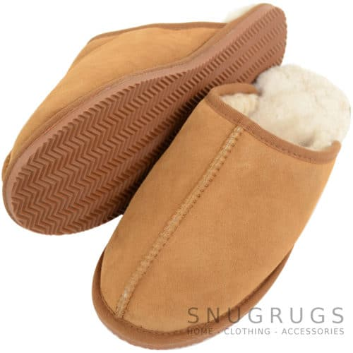 Jenson - Sheepskin Mule Slipper - Chestnut