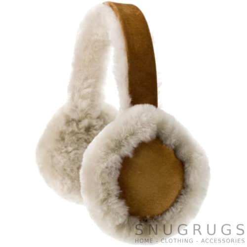 Full Sheepskin Earmuffs - Tan