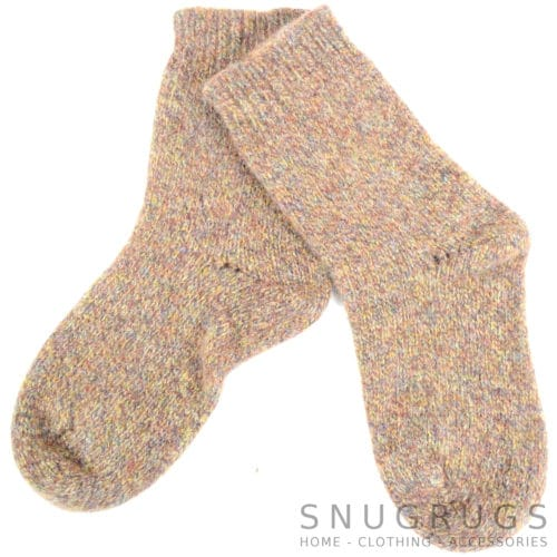 Pure Wool Walking Socks - Earthy Brown