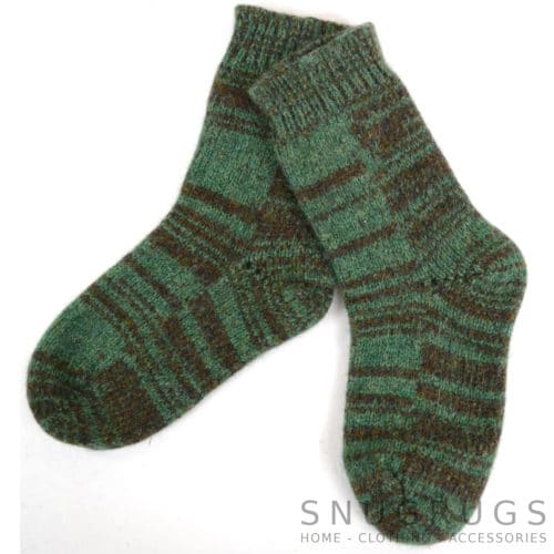 Pure Wool Walking Socks - Moss