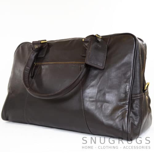 Leather Holdall - Brown