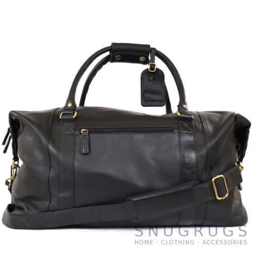 Unisex Leather Holdall - Black