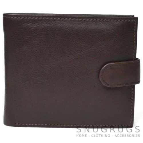 Harry - Prime Hide Leather Bi-Fold Wallet - Dark Brown
