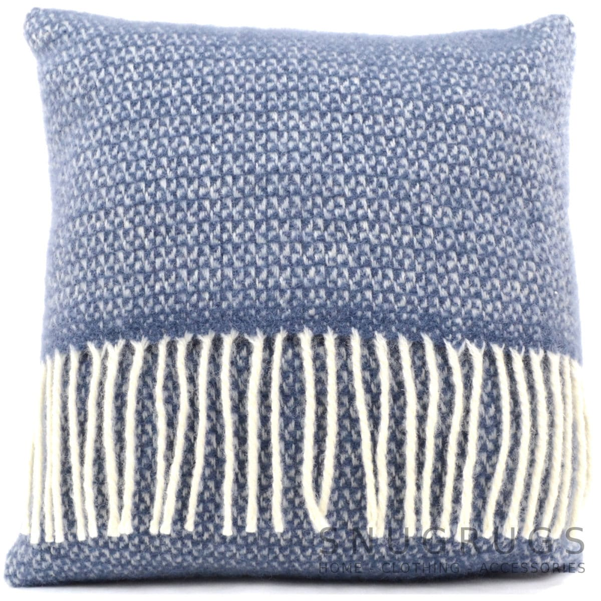 Illusion Wool Cushion - Blue Slate
