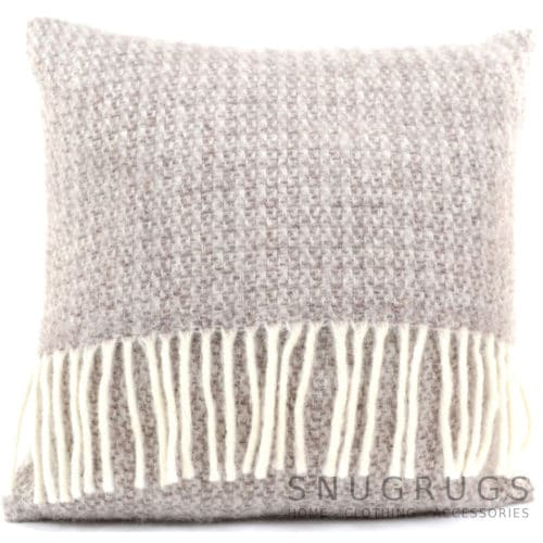 Illusion Wool Cushion - Natural