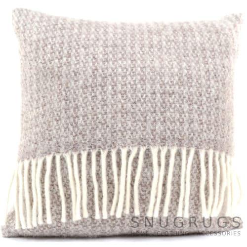 Illusion Wool Cushion - Natural
