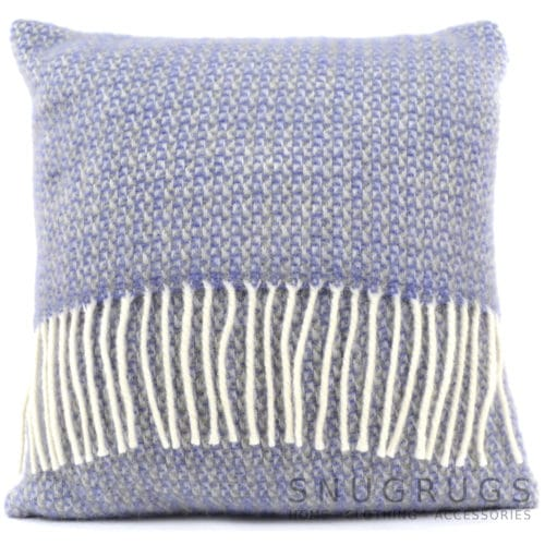 Illusion Wool Cushion - Purple Sage
