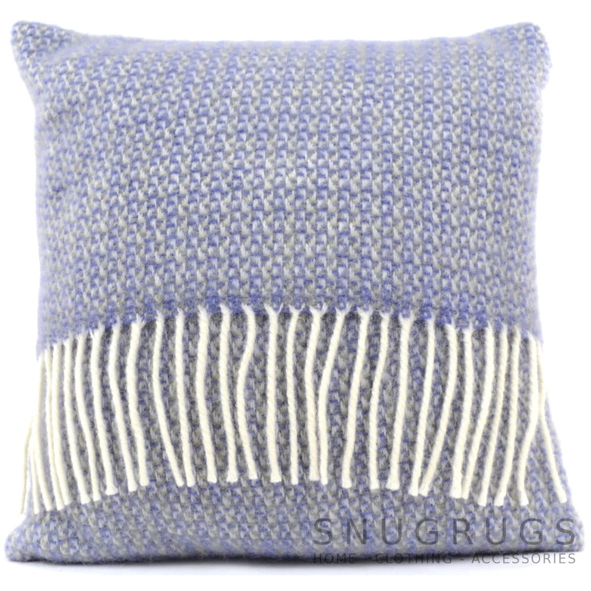 Illusion Wool Cushion - Purple Sage