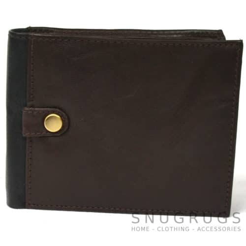Jack - Prime Hide Leather Compact Wallet - Dark Brown