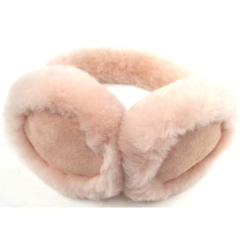 Childrens Sheepskin Earmuffs - Pink