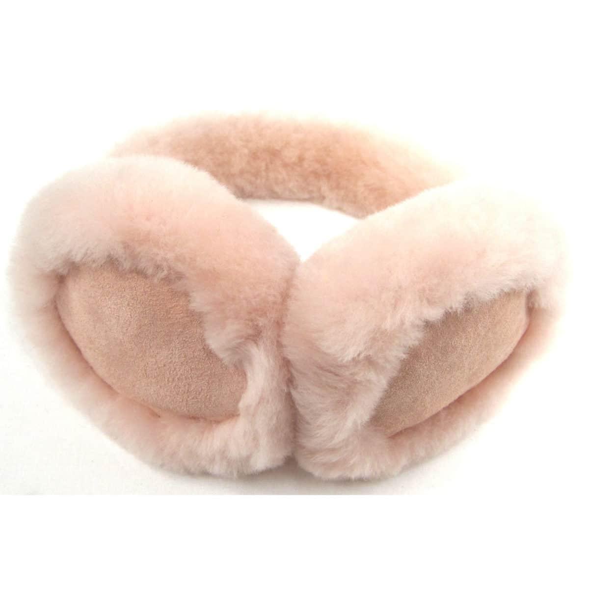 Childrens Sheepskin Earmuffs - Pink