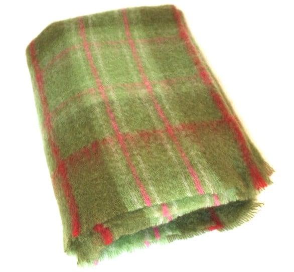 Mohair Blanket - Green