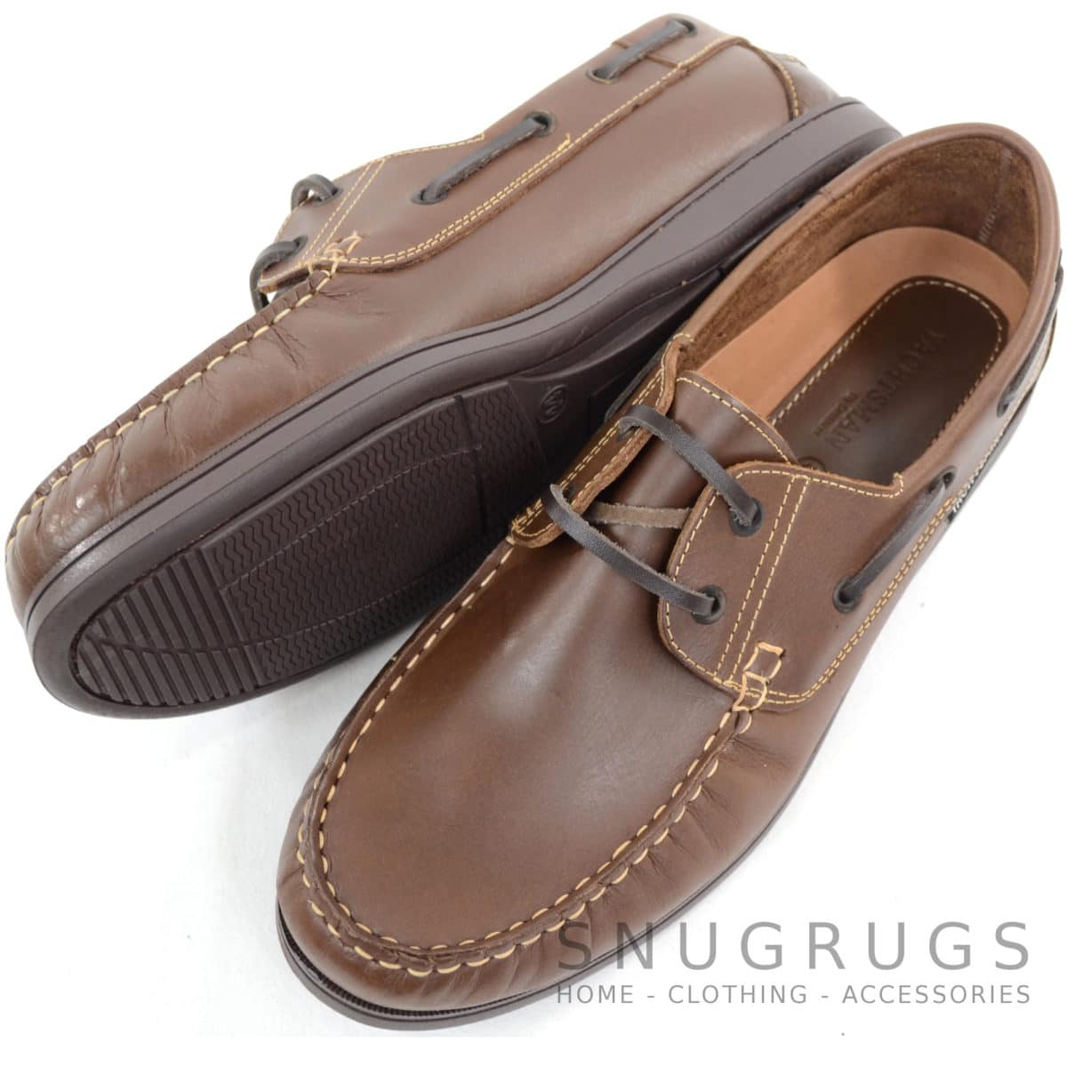 Raft Leather Boat Shoes - Brown
