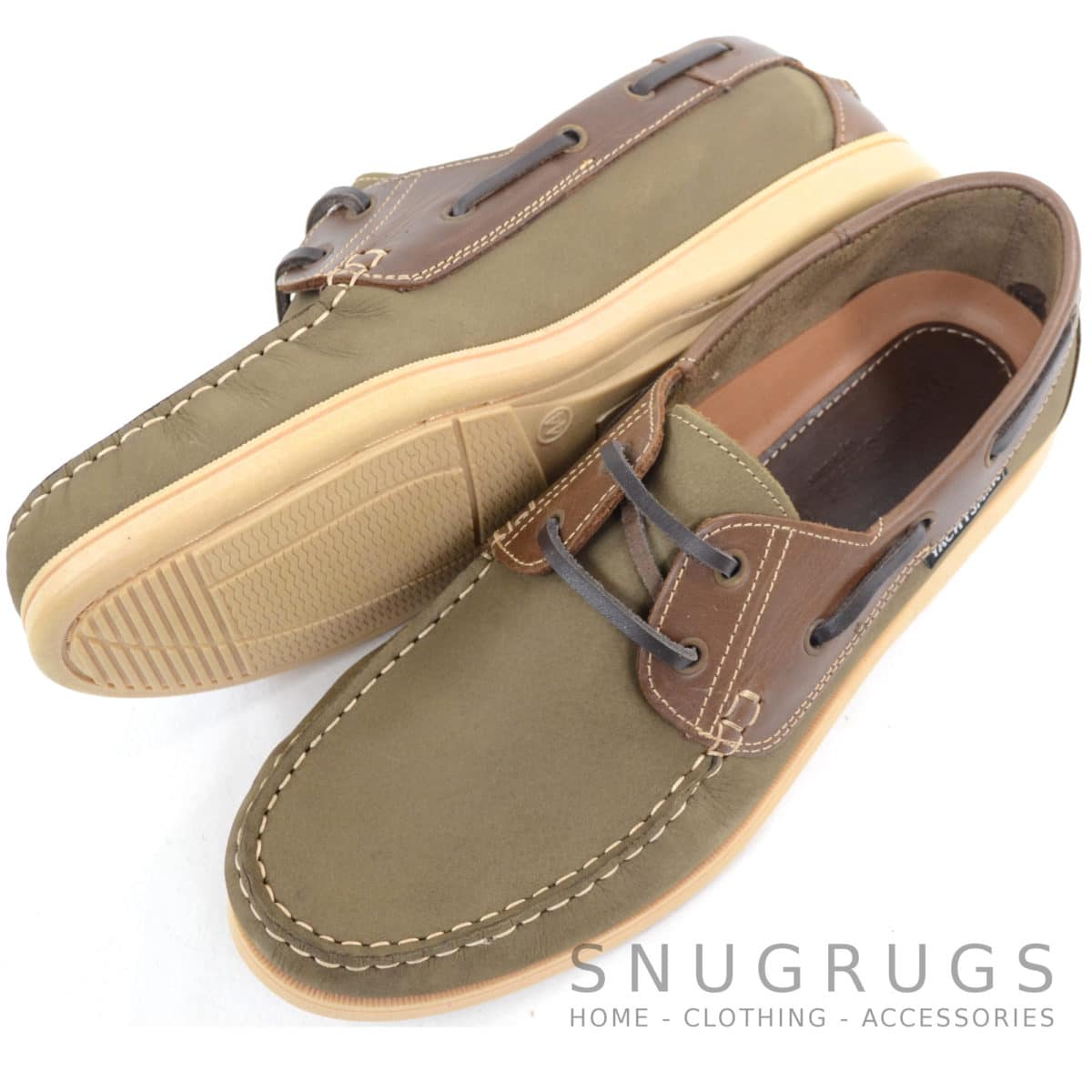 Raft Leather Boat Shoes - Green