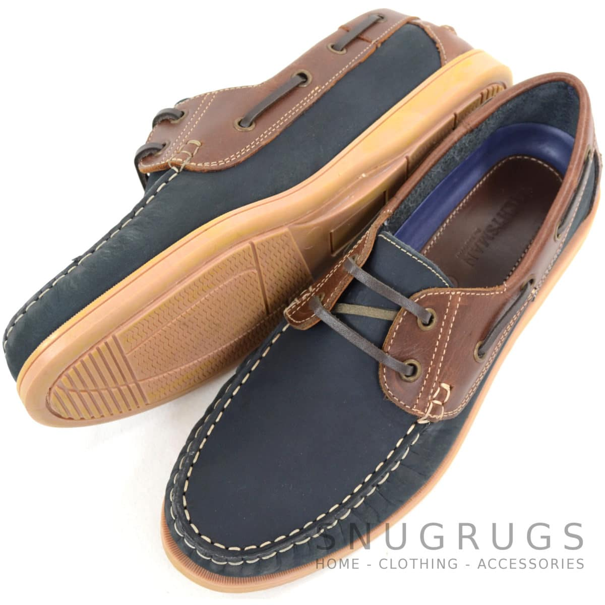 Raft Leather Boat Shoes - Navy