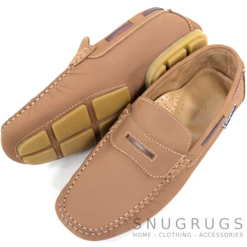 Sloop Leather Slip On Loafers - Tan
