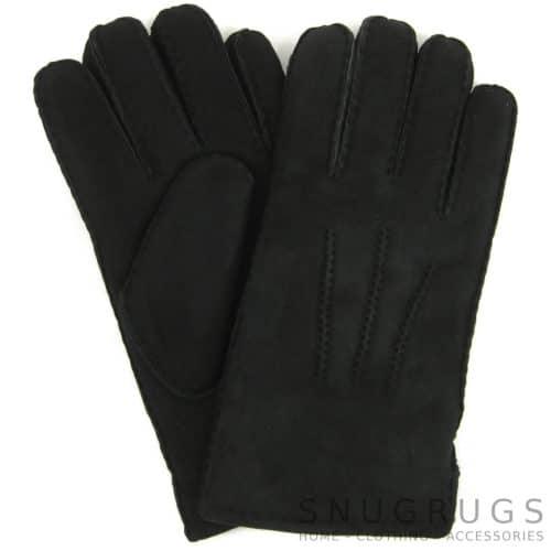 Full Sheepskin Gloves - Black