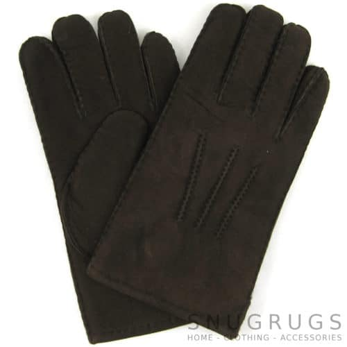 Full Sheepskin Gloves - Coffee