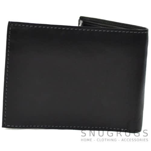 Mark - Genuine Leather Bi-Fold Wallet - Black