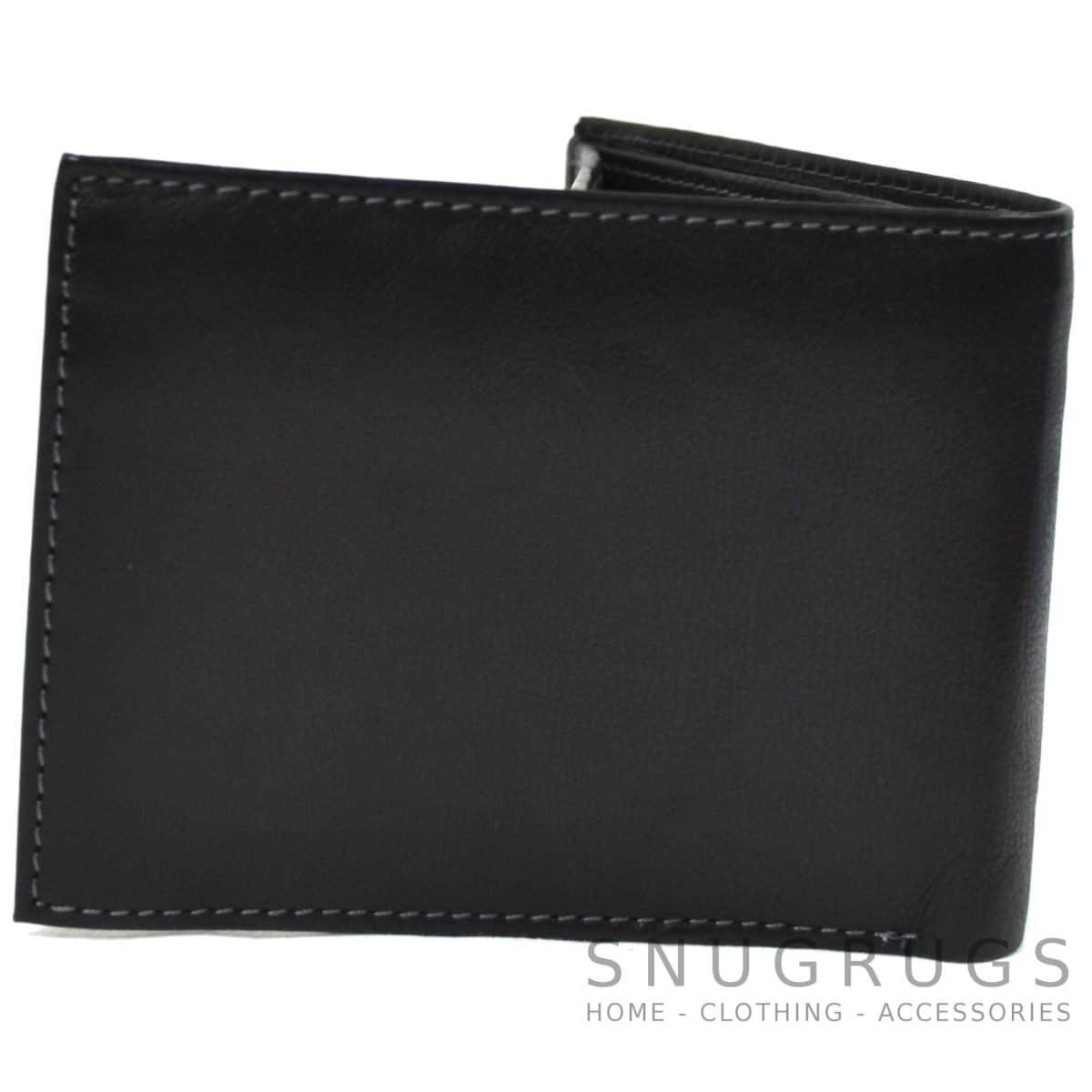 Mark - Genuine Leather Bi-Fold Wallet - Black