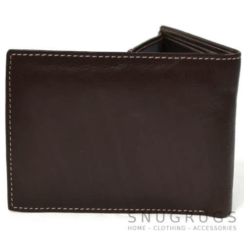 Mark - Genuine Leather Bi-Fold Wallet - Brown