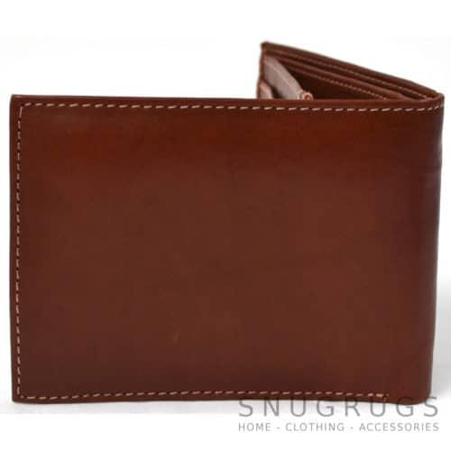 Mark - Genuine Leather Bi-Fold Wallet - Tan