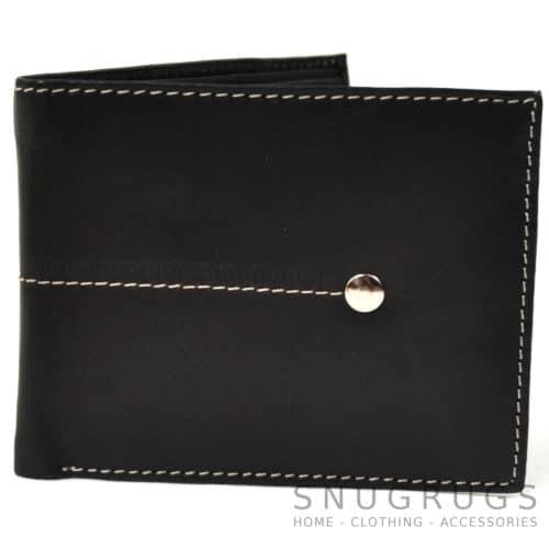 Matt - Genuine Leather Slim Line Wallet - Black